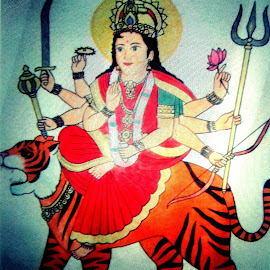Aadi shakti maa durga by Aarti Chaudhary - Drawing All Drawing