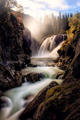 Rjukandefoss by Walter Urnes - Landscapes Waterscapes ( autumn, waterfall, norway )