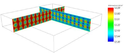 Photo: Wärmestrombild von Brettsperrholz mit Lufteinschlüssen