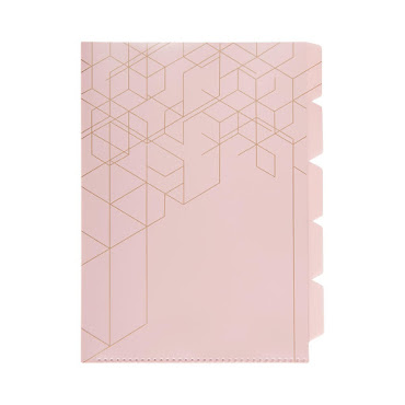 Indexmapp 5 flikar PP A4 Dusty Pink