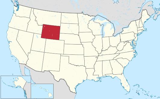 Mapa Wyoming