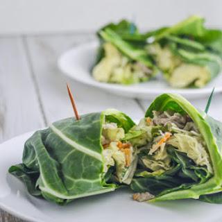 Caesar Salad Lettuce Wraps (Low-Carb, Gluten-Free, Keto).