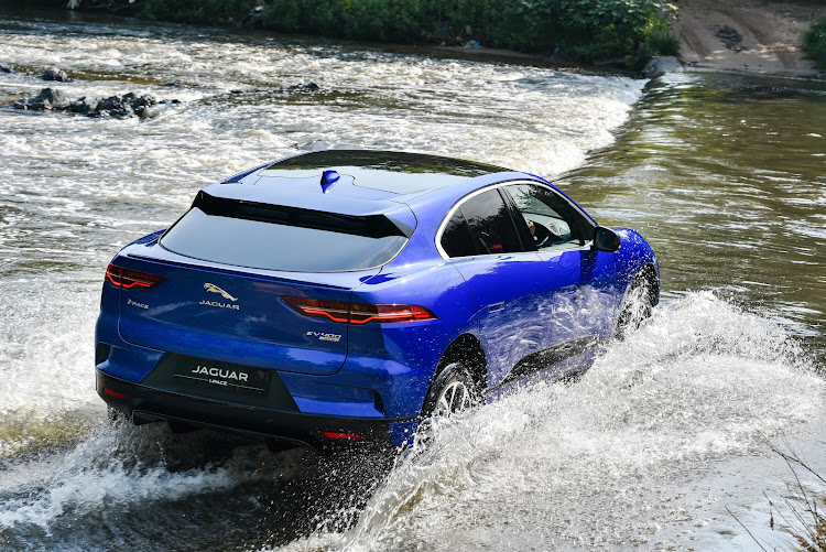 Jaguar's driving route at the media launch set out to prove that electricity and water can safely mix. Picture: SUPPLIED