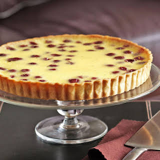 Sour Cherry Custard Tart.