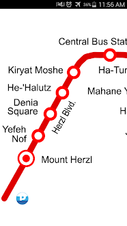 Jerusalem Tram Map Gratis