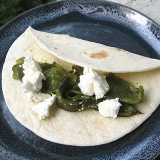Roasted Poblano-Goat Cheese Soft Tacos.