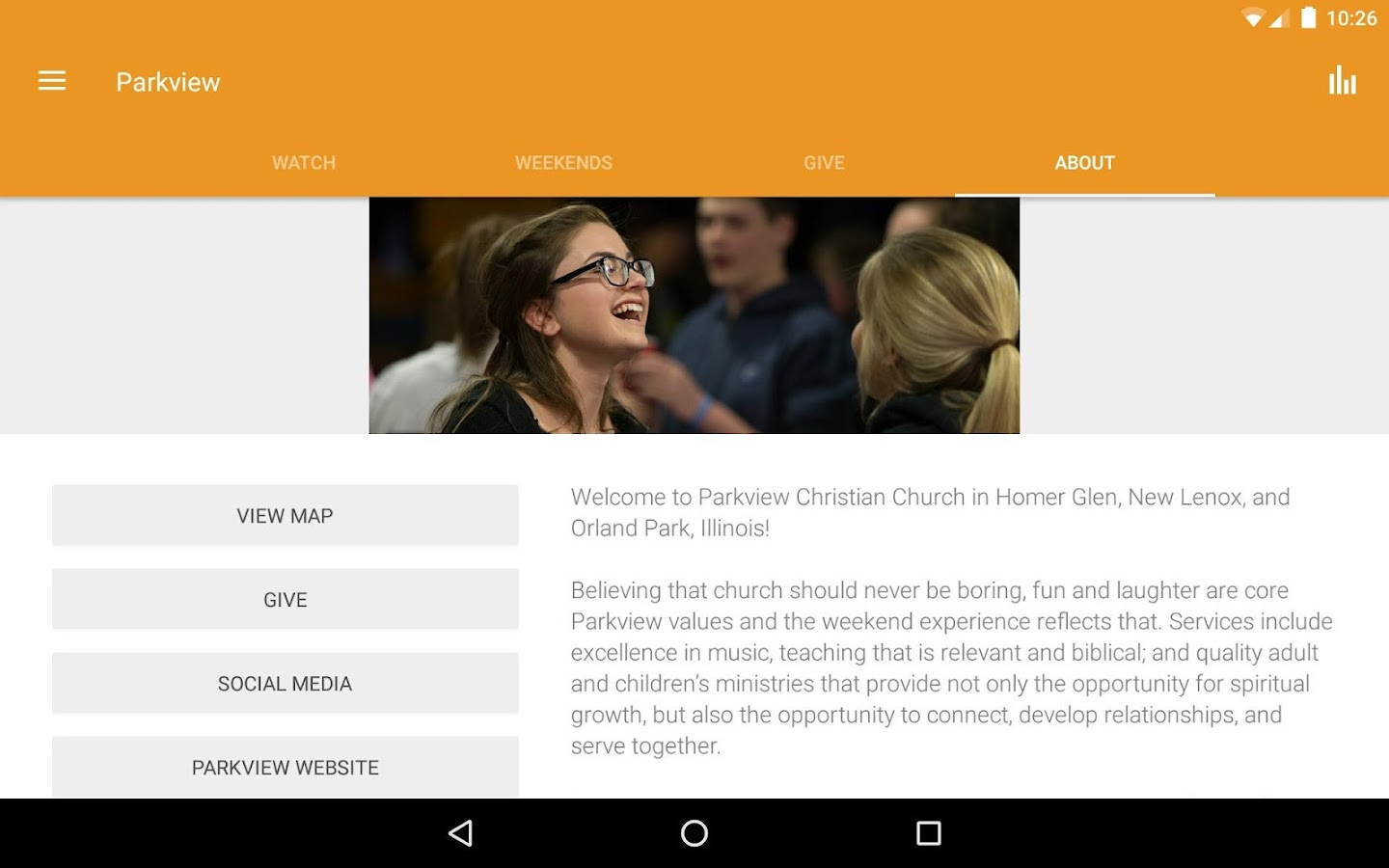 Parkview Christian Church - IL- screenshot