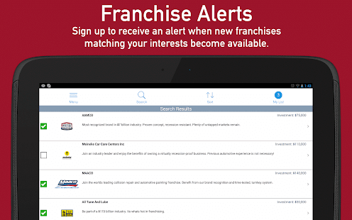 Franchises to Buy- screenshot thumbnail
