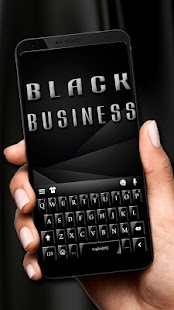 Black Business Keyboard Theme - náhled