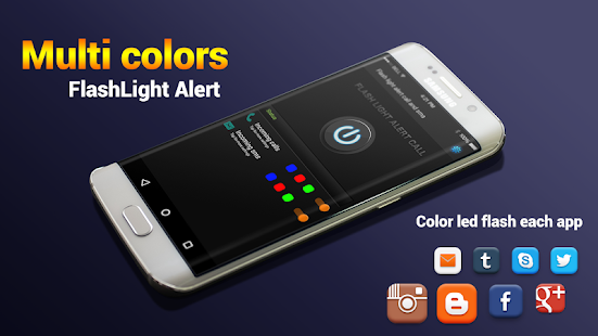 Color Flash Light alert Call