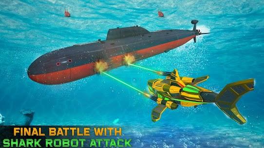 Angry Shark Robot Submarine Shooting Attack 3