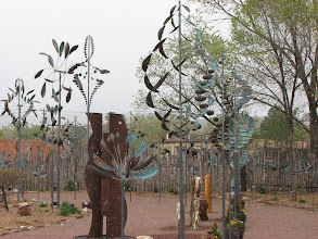Photo: These sculptures are all wind powered and make wonderful patterns when in motion.  And yes it is snowing!