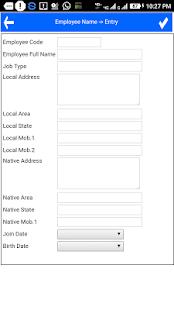 Attendance Register - náhled