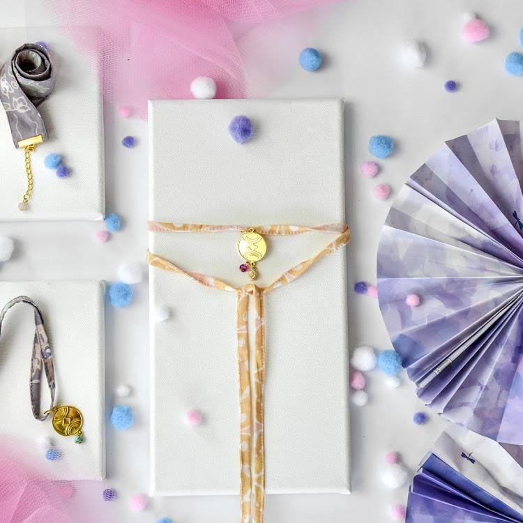 Wrap Choker / Bracelet #Pink Lemonade