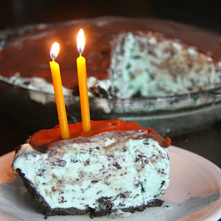 Grasshopper Ice Cream Pie - 2 Year Blogiversary!