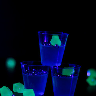 Glow in the Dark Jello Shots.