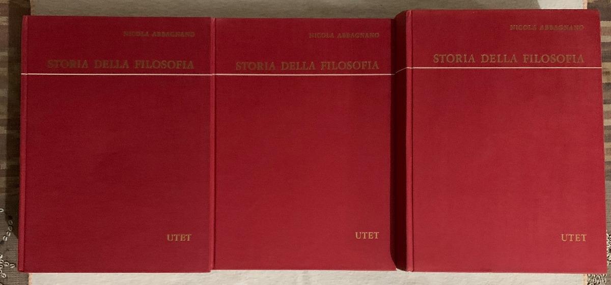 Nicola Abbagnano - Storia Della Filosofia (3 Vol.) - Utet - $ 2,300.00 en  Mercado Libre