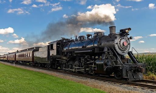 蒸気機関車のパズル