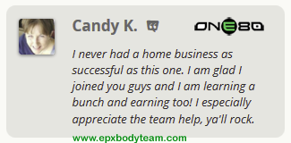 Photo: Real EPX Body Team Member Testimonial - Candy