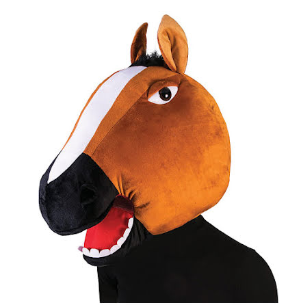 Maskothuvud, häst