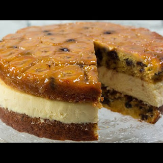 Chocolate Chip Bananas Foster Cheesecake Recipe