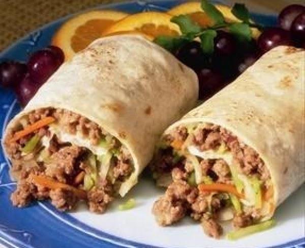 Beef And Broccoli Slaw Wraps Recipe