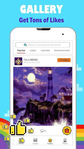 PixPanda - Color by Number Pixel Art Coloring Book 3.4 screenshots 5