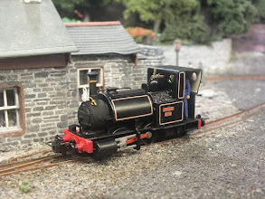 Photo: 019 A more drastic Anglicisation exercise was undertaken by David Malton from Peco, who has completed his Skarloey as Talylllyn Rly no.1 as running in the current lined black livery. A superb looking model .