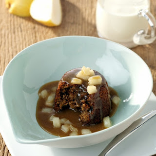 Sticky Gingerbread Puddings with Toffee Pear Sauce Recipe