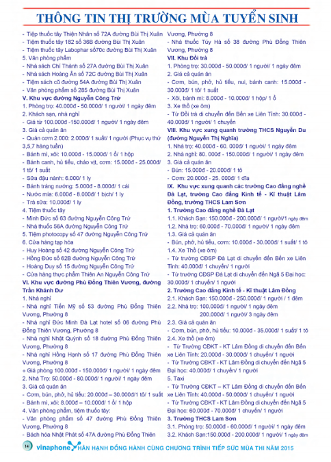 Cẩm Nang Tiếp Sức Mùa Thi 2015 - Khu Vực Đà Lạt - Dalat News