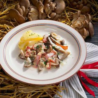 Austernpilze mit Weißweinsauce