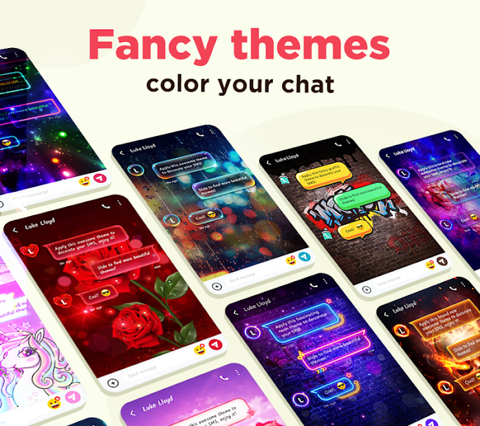 Color SMS - Themes, Customize chat, Emoji Android App Screenshot