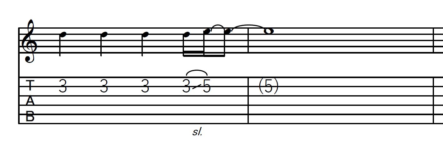 スライド奏法(スライドアップ)