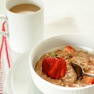Strawberry Nutella Oatmeal.