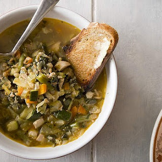 Chicken, Barley And Vegetable Soup.