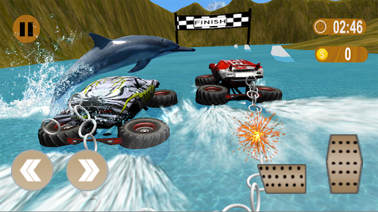 Chained Monster Truck Impossible Joined Racing 3d - náhled
