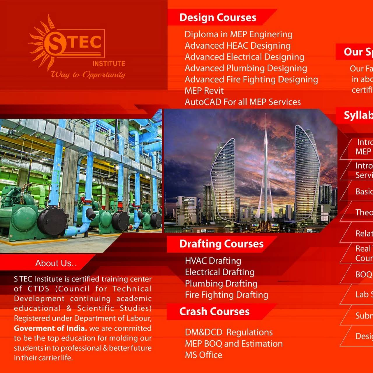 S TEC MEP INSTITUTE (Gulf Oriented Courses) - Institute Of