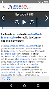 News in Slow French- screenshot thumbnail