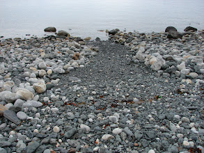 Photo: This gravel path made landing and launching easier at Point Bridget.