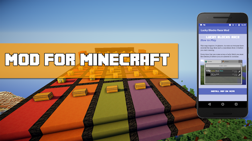 Lucky Block Race Mod for MCPE for PC