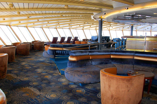 Take in the scenic ocean views from the Crow's Nest atop  Holland America's Prinsendam.