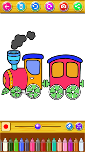 Train Coloring Book & Drawing Game - náhled