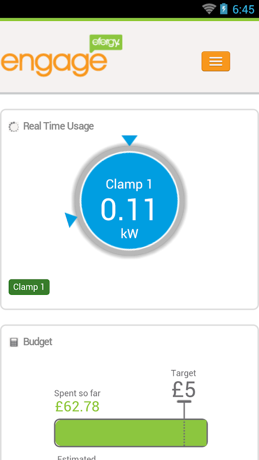 efergy engage- screenshot