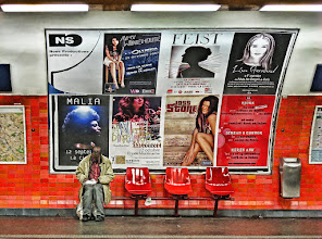 Photo: In the Paris metro As I was waiting for my train to come, I saw this at the platform on the other side. For some reason, it caught my attention, and I grabbed a quick shot before getting on my train.