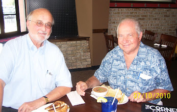 Photo: Terry Whitaker VT 26 '68-70 and Capt. Arnold Schmidt VT 26 CO  '73-75 & Base CO '81-83 reunite for lunch just recently in their home town of St. Louis, MO.