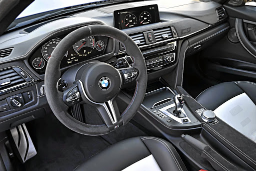 The interior is naturally focused on driving rather than gadgets but it is still a surprisingly good urban drive. Picture: BMW