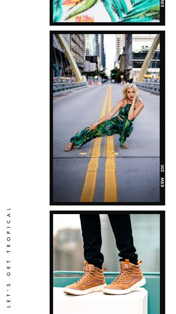 Palm Print Frame - Facebook Story template
