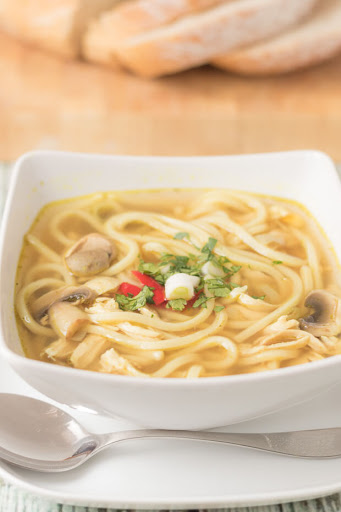 Flu Busting Spicy Chicken Noodle Soup