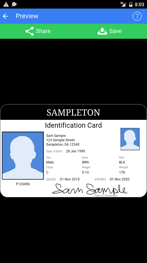 Fake ID Generator- screenshot