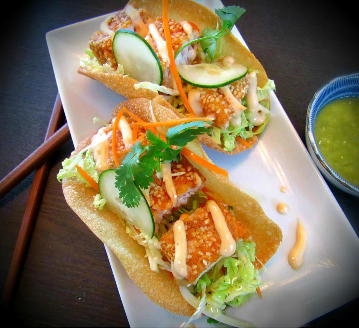 Crispy Asian Fish Tacos With Lemon ...